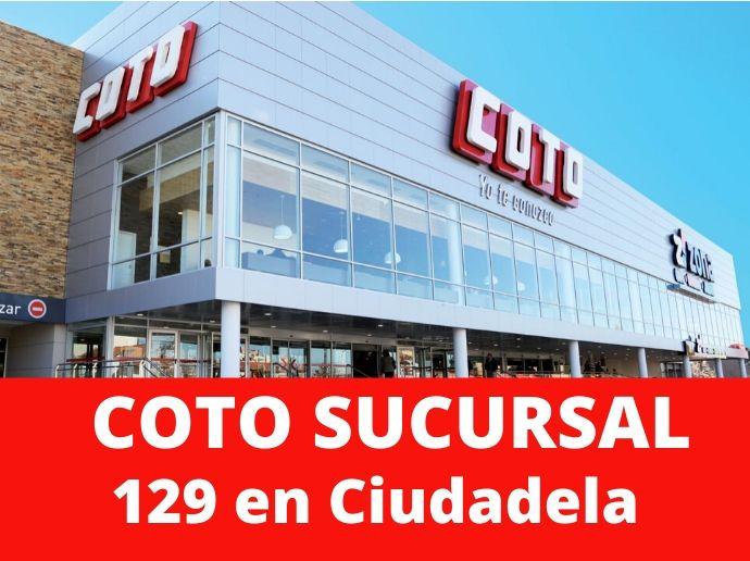 COTO Sucursal 129 Ciudadela Hipermercado Zona Oeste