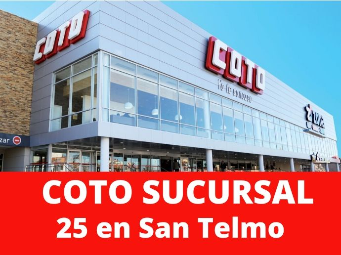 COTO Sucursal 25 San Telmo Supermercado Capital Federal