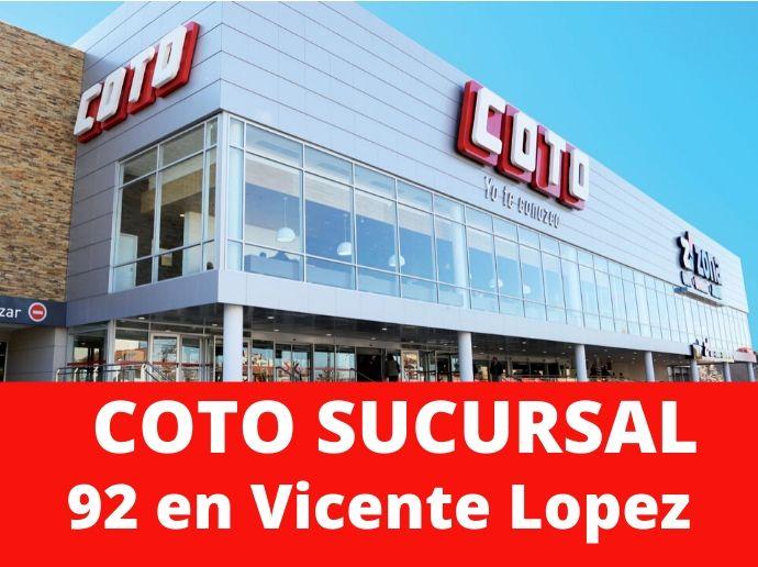 COTO Sucursal 92 Vicente Lopez Hipermercado Zona Norte