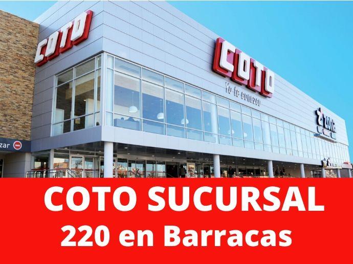COTO Sucursal 220 Barracas Hipermercado Capital Federal