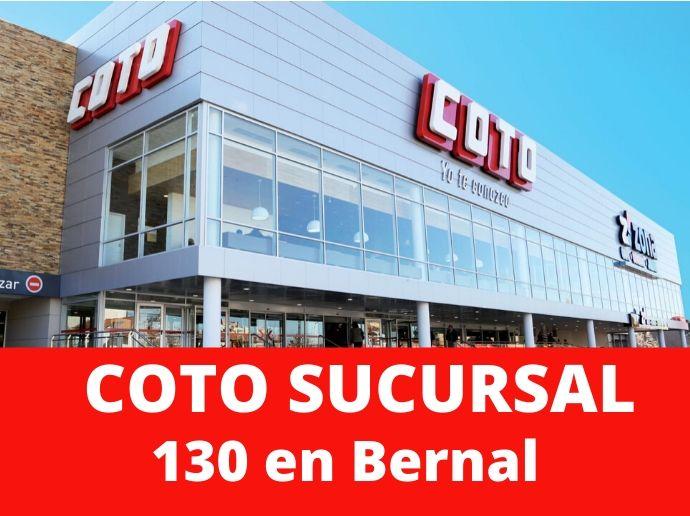 COTO Sucursal 130 Bernal Supermercado Zona Sur