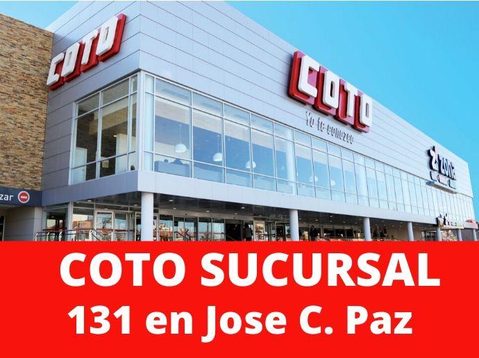 COTO Sucursal 131 Jose C. Paz Hipermercado Zona Oeste
