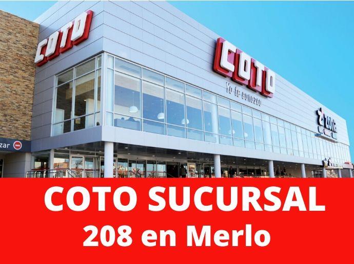 COTO Sucursal 208 Merlo Supermercado Zona Oeste