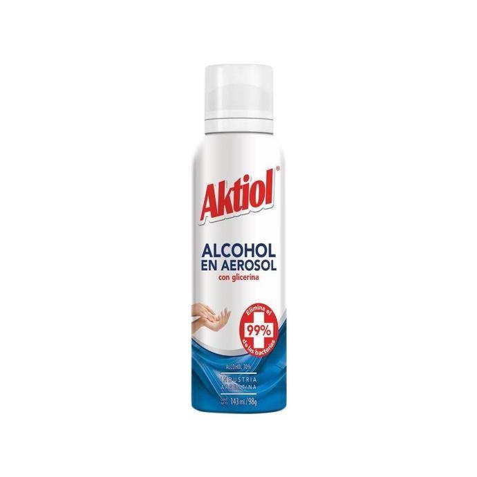 Alcohol En Aerosol Con Glicerina Aktiol Aer 143 Ml